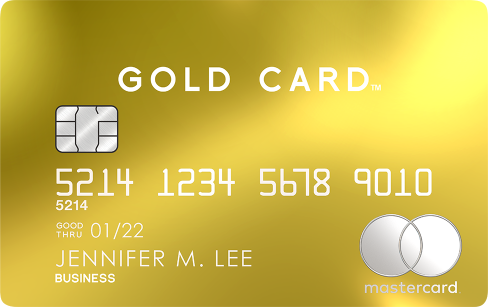 Gold Card Front Image